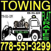 ph778+55I~3299 TOW TRUCK-FLAT RATES For all TOWING-LowerMainland