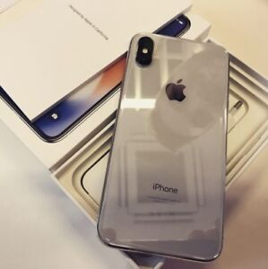 iPhone X 64GB Silver Unlocked Perfect Condition