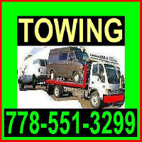 TOW TRUCK-778~551~3299 TOWING BETWEEN CHILLIWACK/AgassiVANCOUVER