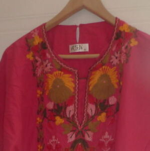 ASA Kaftan dress with beautiful embroidery, size M, excell. cold Kitchener / Waterloo Kitchener Area image 1