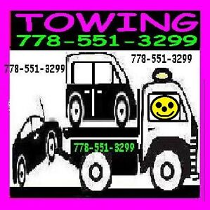 TOWING-FLAT RATES-(flat deck)778+55I+3299*TOW TRUCK EVERYWHERE