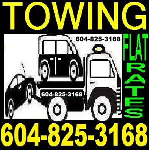 *TOW TRUCK*TOWING*FLATDECK *604-825-3168 VANCOUVER TO CHILLIWACK North Shore Greater Vancouver Area image 1