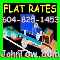 *TOWING*FLAT RATES(604)825+1453 TOW TRUCK*BIG AND SMALL(6000kg)