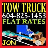 TOW TRUCK*ph604-825-1453 FLAT RATES*TOWING ABBOTSFORD,CHILLIWACK