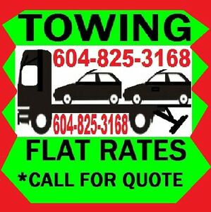 #1 JON TOWING*(604)825-3168 Car,Truck,Van,4x4,Forklift,3 Ton ETC