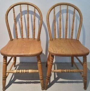 Antique BOW BACK Chairs NATURAL Vintage