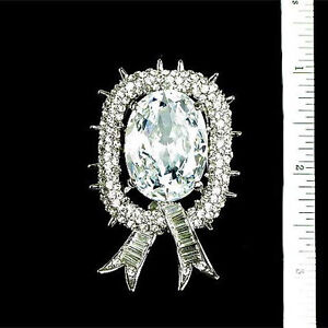 Beautiful Vintage Inspired Estate Crystal Rhinestone Pin Brooch  (Sparkle-672)