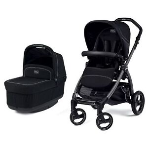 Peg Perego Book Pop-Up Stroller & Bassinet Onyx   New condition