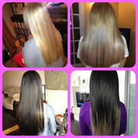 HAIR EXTENSIONS CALGARY FULL HEAD $299 BOOK NOW