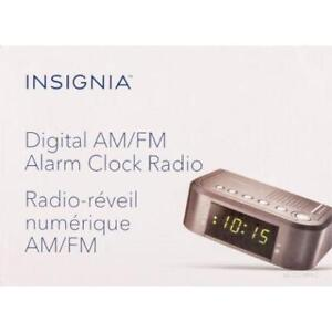 NEW Insignia Clock Radio - Black
