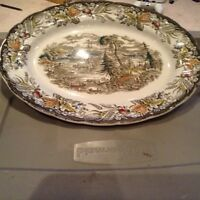 Old serving plate