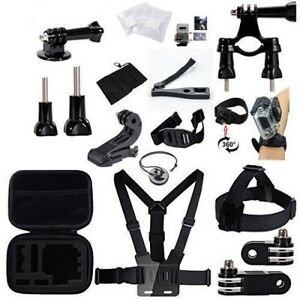 24-in-1 Accessories Kit for Gopro Hero 2 3 4 5 Black and Silver