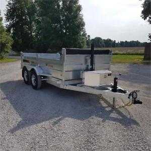 2019 K Trail 6 X 12 Galvanized Dump Trailer w/ Ramps