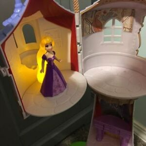 Disney Tangled Rapunzel tower and doll, excellent condition