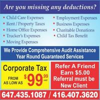INCOME TAX from $30.00, Corporate Tax, Business TAX - Low Cost