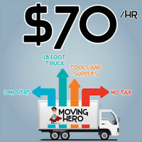 2 movers+ 16ft truck for only $70/hr!!