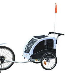 Pet trailer & Bike Carrier 2 in 1 Pet bicycle Trailer & stroller