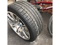 m3 alloys with tyres