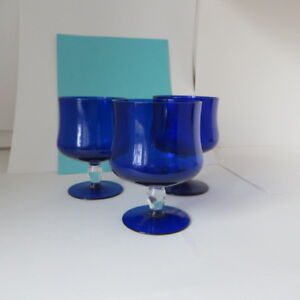 Blue glass dessert dish , candy dish,for all occasions