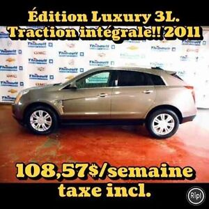 2011 CADILLAC SRX AWD LUXURY 3 LITRES TRACTION INTÉGRALE