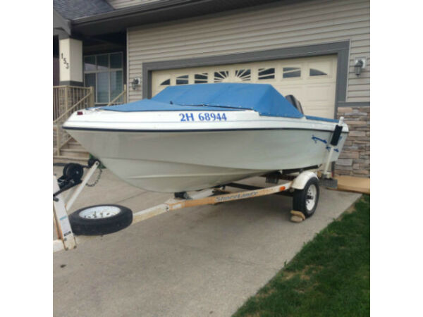 Used 1995 Invader Marine 16.5ft Invader Open Bow Outboard Motor