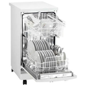 D-nby 18'' 55 dB Portable Dishwasher with Stainless Steel Tub