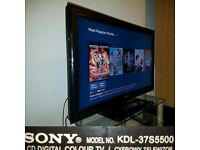 "Sony KDL-37S5500 TV 37"" Full HD 1080p LCD screen"