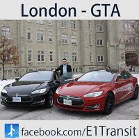 Brampton to London / E1 Tesla Transit /Daily Ride Anytime