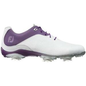 "FootJoy Women's ""DEMO"" DNA Boa Golf Shoe White/Purple- 94822 10M"