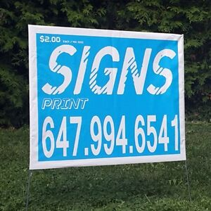 bag signs, lawn signs,full color Coroplas signs