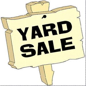 YARD SALE to support a local charity.
