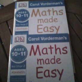 Educational Books Key Stage 2/Age 10-11) Beginner & Advance Maths Made Easy