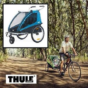 NEW THULE BICYCLE TRAILER/STROLL - 123442894 - COASTER2+ BLUE
