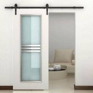 Black or Brown Indoor modern door hardware pack / Barn door kit
