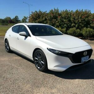 2019 Mazda 3 BP2HLA G25 SKYACTIV-Drive GT White 6 Speed Sports Automatic Hatchback Garbutt Townsville City Preview