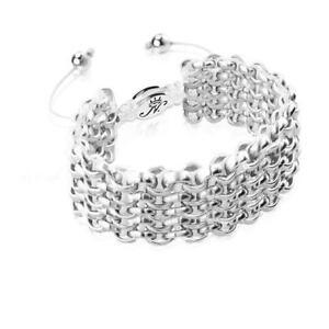 50% OFF All Jewellery - Silver Kismet Links   White   DeluxeBracelet