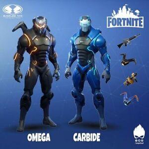 McFarlane Fortnite Figures 7 inch - Carbide and Omega New