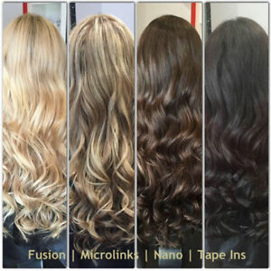 LINA'S LOCKS HAIR EXTENSIONS Fusion | Tape | Microlinks | Nano London Ontario image 1