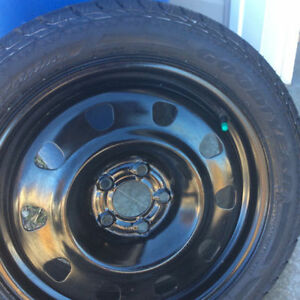 Good Year 225/45R17 94T Winter Tires and Rims