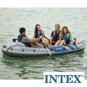 NEW* INTEX INFLATABLE BOAT SET 68324EP 246799326 ALUMINUM OARS AND HIGH OUTPUT AIR PUMP