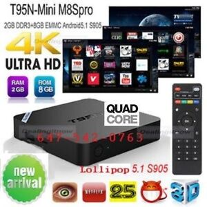 ★ANDROID BOX★ T95N ★ 2 GB RAM...8 GB ROM ★FREE TV & MOVIES★
