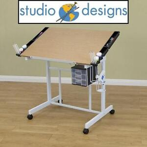 NEW* STUDIO DESIGNS CRAFT STATION - 102042563 - DELUXE CRAFT STATION, WHITE/MAPLE