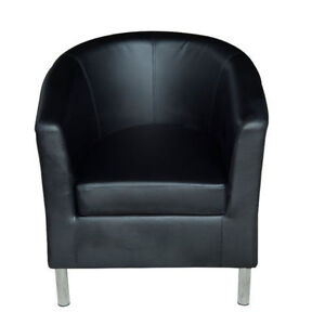 Modern Club Chair Upholstered Tub Chair with Removable Cushion