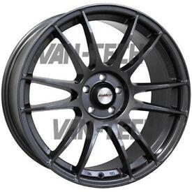"BLACK FRINDAY SALE Calibre Suzuka 15"" 4 x 100 Alloy wheels in Gun Metal"