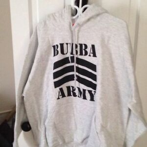 Bubba Army Gray Hoodie Stratford Kitchener Area image 1