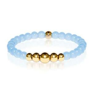 50% OFF All Jewellery - Healing | Gold Aura Aquamarine Bracelet