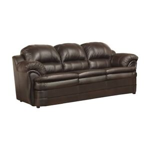 Brand New Leather Sofa Set 3 peices - Canadian Made!! only $1050