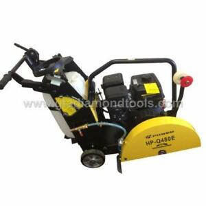H-Power Walk behind Concrete cutting Saw,Cutter, Key Start, Brand New,