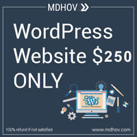 WordPress Website only for 250$. 100% Refund Guaranteed