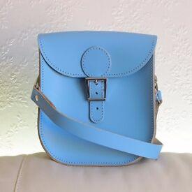 Brit-Stitch Leather Shoulder Bag.